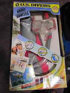 US Divers Adult & Youth Snorkelling Sets - Mask, Fins, Snorkel