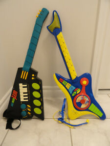 LITTLE TIKES ONE MAN JAM GUITAR AND TOY GUITAR