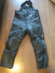 Men's Snopro Leather Snowmobile Pants Size XXL