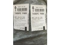2 X Thorpe park Tickets