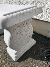 Concrete Garden Bench Seat Tree
