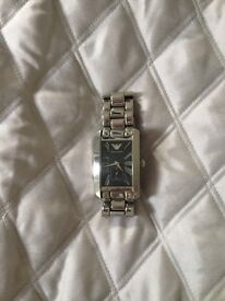 Designer Armani men's silver watch