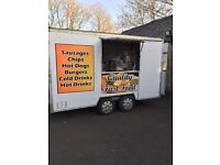 12ft Catering Trailer Chip Van Burger hot food unit