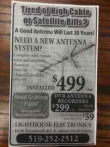 High Definition TV Antenna Sales Service & Installation