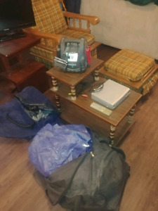 Small Furniture, TVs, and basically an Entire appt for sale.