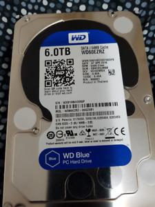WD60EZRZ-00GZ5B1 DCM: EBNCHVJMBB Western Digital 6TB  Hard Drive