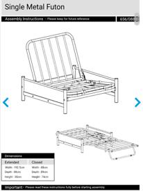Futon sofa bed single