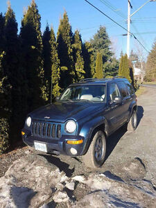 2002 Jeep Liberty SUV, Crossover for repair or parts