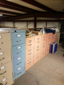 Legal size steel file cabinets
