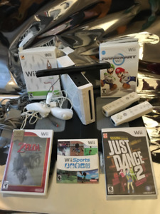 Wii Bundle - Includes Wii Fit/Board, 2 controllers + More