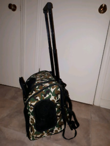 Backpack a animal carrier with wheels