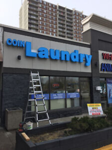 Coin laundry : Wascomate Double stuck COIN dryers