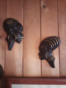 Pair of unique African wall hangings