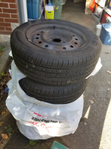 Nissan Altima 16 All Season Radial Tires  On Rims, ALMOST NEW!