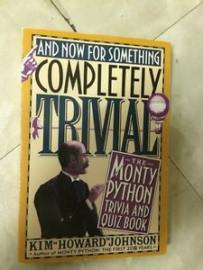 Monty Python's and now for Something Completely Trivial Book