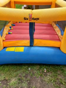 Six Flags Mega Bouncer inflatable house