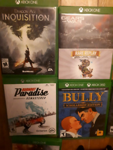 xbox 1 games, controllers and kinect for sale