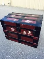 Nice hand painted and decorated trunk