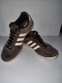 Adidas Brown Suede Mens Trainers Size 9