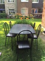 PATIO/DINING TABLE set WITH 6 chairs