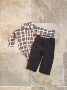 6 month boys Christmas outfit