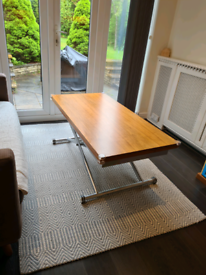 DWELL Multi purpose height adjustable coffee/dining table