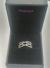9ct White Gold & Diamond Eternity Ring