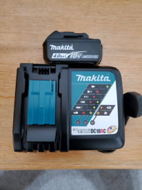 makita Genuine DC18RC 7.2-18V charger and battery