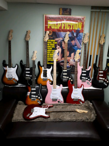 Various Squier guitars for sale