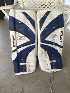 Hockey goalie equipment (itech, RBK, TPS)