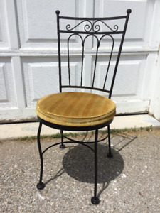 French Iron Vanity Chair