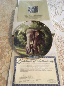 """Bradford Collection Plate """"Asian Elephant"""""""
