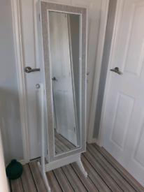 Cheval mirror/jewellery cabinet
