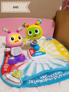 BeatBelle and BeatBo with learning dancing mat