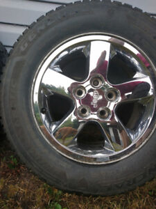 Jeep Grand Cherokee Rims + Winter Tires 245/65r17 (x4)