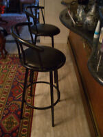 2 nice swivel counter stools.