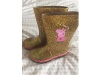 Peppa Pig Golden Boots (Wellies) Size 7 M&S