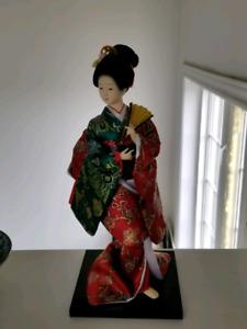 Handcrafted Procelain Japanese Geisha Doll