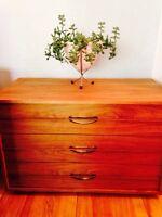 Retro vintage walnut dresser