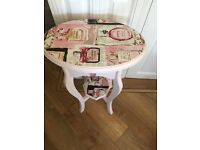 Shabby chic bedroom table side table
