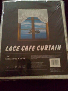Brand new with tags white lace curtain window covering London Ontario image 1