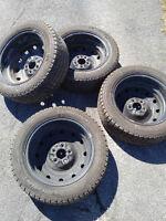 4 Michelin Winter Tires on Rims