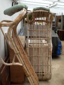 Bamboo loungers