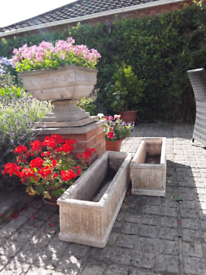 STONE PLANT/GARDEN TROUGHS IN GREAT CONDITION