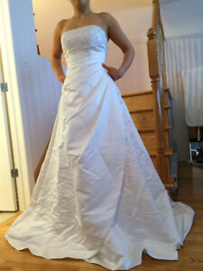 Wedding dress & white satin shoes