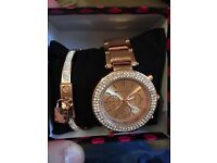 Michael Kors watch and bracelet