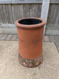 Large clay chimney pot £20