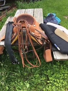 Western saddle and accessories
