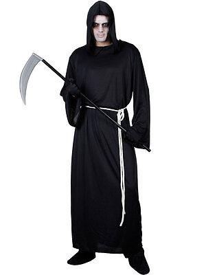 Adult The Grim Reaper Death Robe Fancy Dress Halloween Costume Mens Brand New](Make Grim Reaper Halloween Costume)