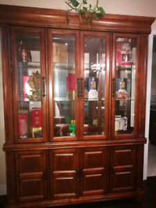 Solid Wood Buffet and Hutch for Sale